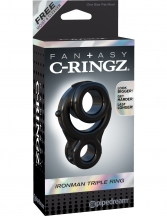Inel erectie Fantasy C-Ringz Ironman Triple Ring