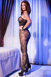LENJERIE SEXY - CATSUIT - Catsuit  S/L  Black superstretch Bodystocking