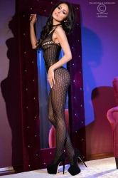 LENJERIE SEXY - CATSUIT - Catsuit  S/M  Black Bodystocking