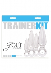 Dopuri anale - Jolie set 4 buc Trainer Kit Clear