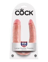 Dildo dublu King Cock  U-Shaped Large